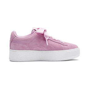 Thumbnail 5 of Vikky Platform Ribbon Kids' Girls' Trainers, Pale Pink-Pale Pink, medium