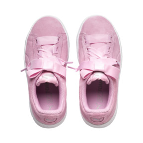 Thumbnail 6 of Vikky Platform Ribbon Kids' Girls' Trainers, Pale Pink-Pale Pink, medium