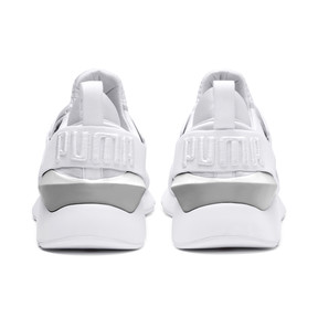 Thumbnail 4 of Muse Kids' Trainers, Puma White-Puma White, medium