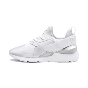 Thumbnail 1 of Muse Kids' Trainers, Puma White-Puma White, medium