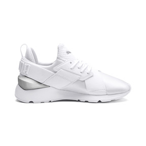 Thumbnail 5 of Muse Kids' Trainers, Puma White-Puma White, medium
