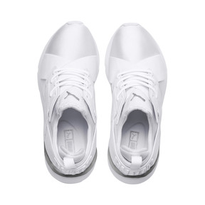 Thumbnail 6 of Muse Kids' Trainers, Puma White-Puma White, medium