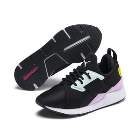 Thumbnail 2 of Muse Kids' Trainers, Puma Black-Pale Pink, medium