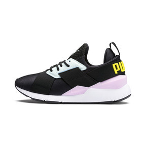 Thumbnail 1 of Muse Kids' Trainers, Puma Black-Pale Pink, medium