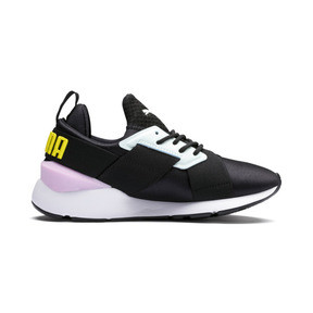 Thumbnail 5 of Muse Kids' Trainers, Puma Black-Pale Pink, medium