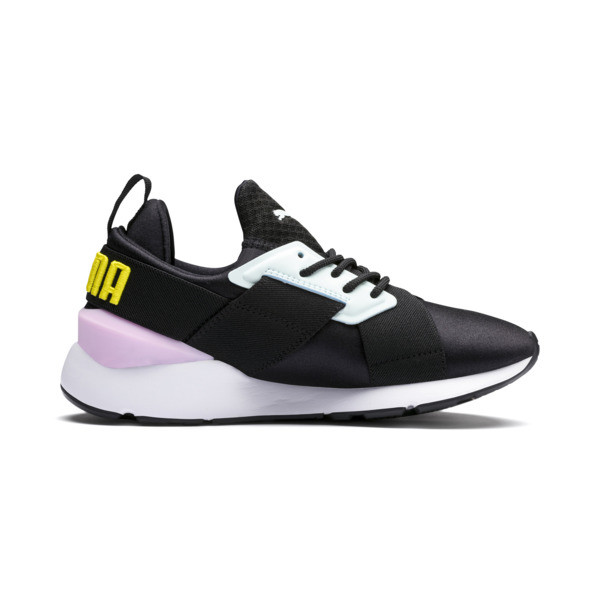 Muse Kids' Trainers, Puma Black-Pale Pink, large