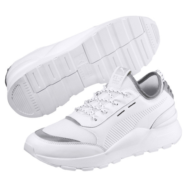 RS-0 Optic Pop Trainers, Puma White-Puma Silver, large