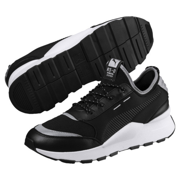 RS-0 Optic Pop Trainers, Puma Black-Puma Silver, large