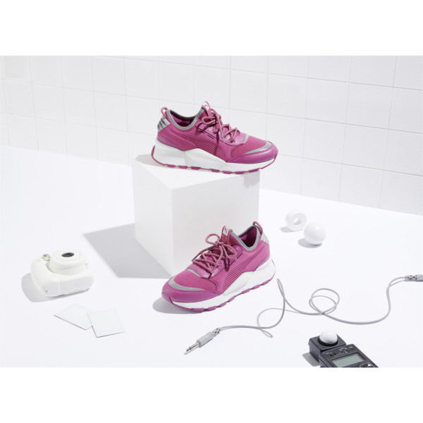 RS-0 Optic Pop Sneaker, Magenta Haze-Puma White, large