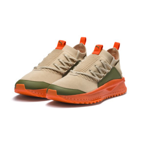 Thumbnail 2 of PUMA x ATELIER NEW REGIME TSUGI Jun Sneaker, Pebble-Olive-Scarlet Ibis, medium