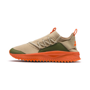 Thumbnail 1 of PUMA x ATELIER NEW REGIME TSUGI Jun Sneaker, Pebble-Olive-Scarlet Ibis, medium