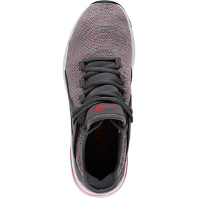 Thumbnail 5 of Electron Street Knit Sneakers, Iron Gate-Ribbon Red, medium