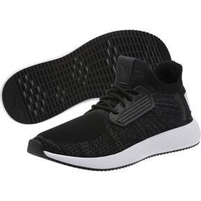 Thumbnail 2 of Uprise Knit Men's Sneakers, Black-Iron Gate-White, medium