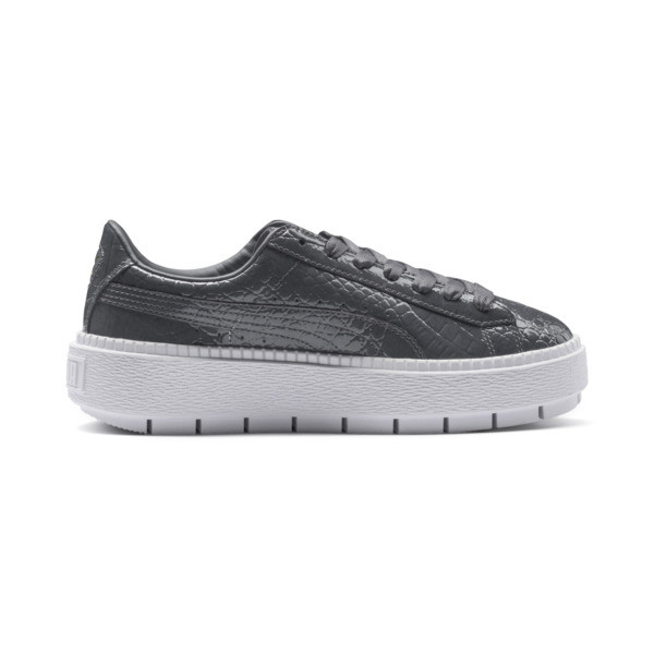 Platform Trace Exotic Lux Women's Sneakers, Iron Gate-Iron Gate, large