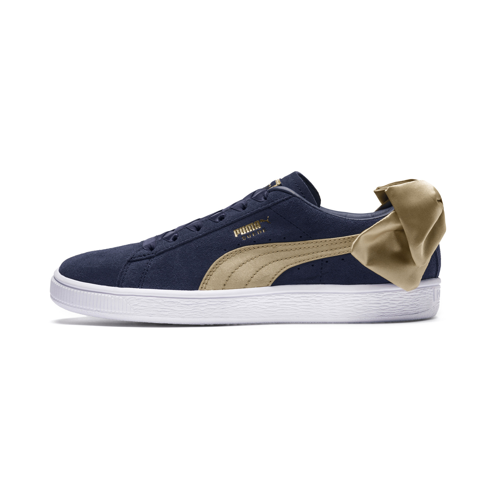 Suede Bow Varsity Women's Sneakers