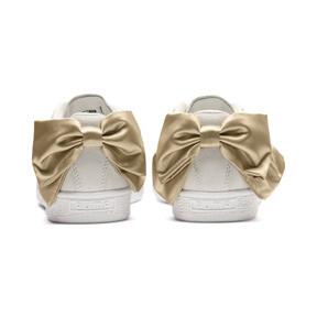 Thumbnail 4 of Suede Bow Varsity Women's Sneakers, Marshmallow-Metallic Gold, medium
