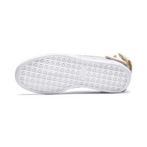 Thumbnail 3 of Suede Bow Varsity Women's Sneakers, Marshmallow-Metallic Gold, medium
