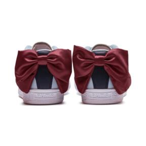 Thumbnail 4 of Basket Bow New School Women's Sneakers, P.White-CERULEAN-Pomegranate, medium