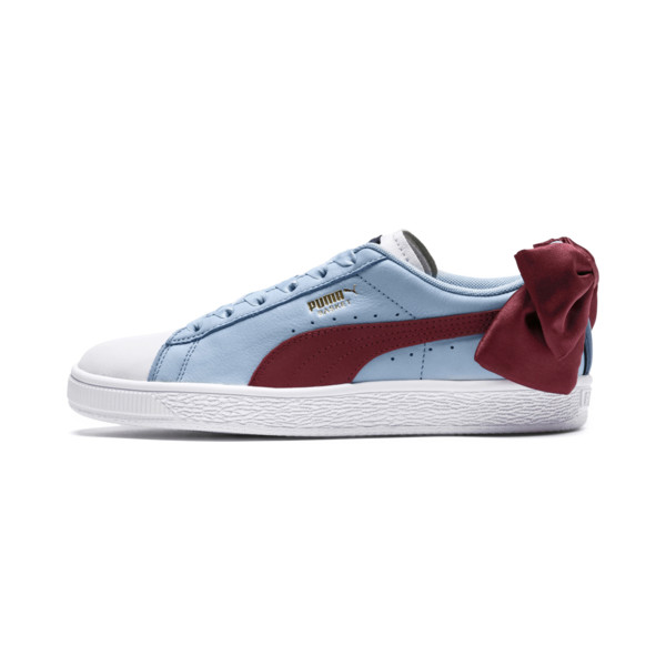 d18c5f415e9 Basket Bow New School Women's Sneakers, P.White-CERULEAN-Pomegranate, large