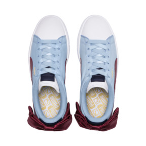 Thumbnail 6 of Basket Bow New School Women's Sneakers, P.White-CERULEAN-Pomegranate, medium