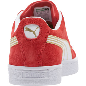 Thumbnail 4 of Suede Varsity Women's Sneakers, Ribbon Red-Puma White, medium