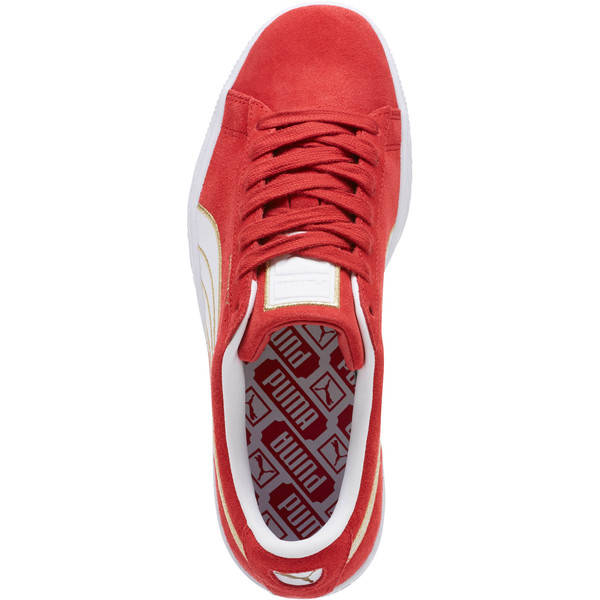 Suede Varsity Women's Sneakers, Ribbon Red-Puma White, large