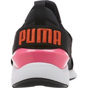 Thumbnail 4 of Muse Chase Women's Sneakers, Puma Black-KNOCKOUT PINK, medium