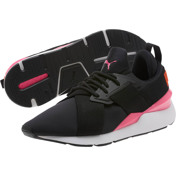 Muse Chase Women's Sneakers, Puma Black-KNOCKOUT PINK, large