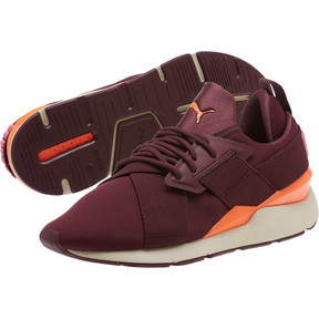 Thumbnail 2 of Muse Chase Women's Sneakers, Fig-Shocking Orange, medium