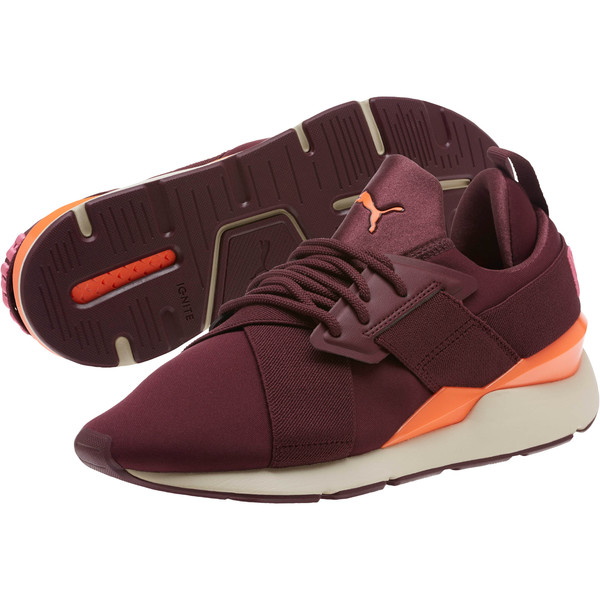 Muse Chase Women's Sneakers, Fig-Shocking Orange, large