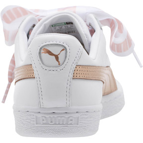 Thumbnail 4 of Basket Heart Metallic FS Wns, Puma White-Rose Gold, medium