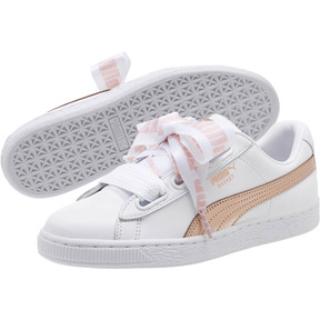 Thumbnail 2 of Basket Heart Metallic FS Wns, Puma White-Rose Gold, medium