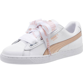 Thumbnail 1 of Basket Heart Metallic FS Wns, Puma White-Rose Gold, medium