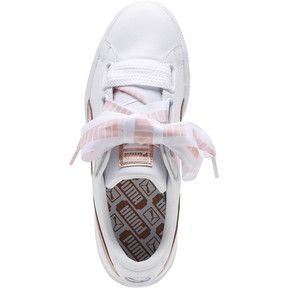 Thumbnail 5 of Basket Heart Metallic FS Wns, Puma White-Rose Gold, medium