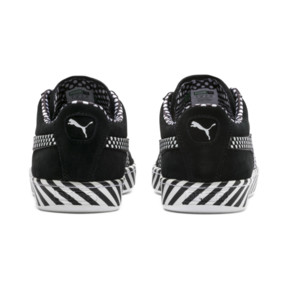 Thumbnail 4 of Suede Classic Pop Culture Trainers, Puma Black-Puma White, medium