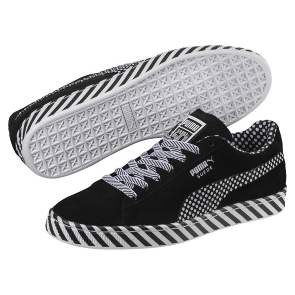 Suede Classic Pop Culture Sneakers, Puma Black-Puma White, large
