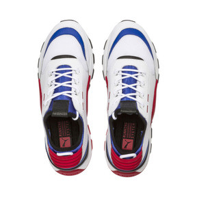 Thumbnail 6 of RS-0 SOUND Kids' Trainers, White-Dazzling Blue-White, medium