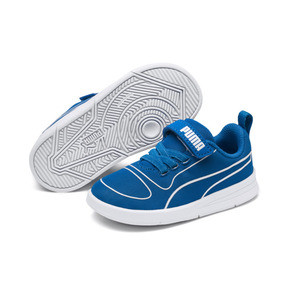 Thumbnail 2 of キッズ プーマ カリ V PS (17-21cm), Indigo Bunting-Puma White, medium-JPN