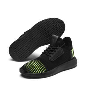 Thumbnail 2 of Uprise Color Shift JR  Sneakers, Puma Black-Limepunch, medium