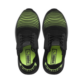 Thumbnail 6 of Uprise Color Shift JR  Sneakers, Puma Black-Limepunch, medium