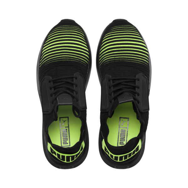Uprise Color Shift Men's Sneakers, Black-Limepunch, large
