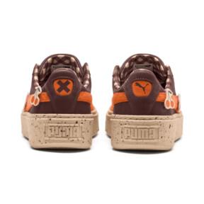 Thumbnail 4 of PUMA X TINYCOTTONS Basket Platform JR Sneakers, 01, medium
