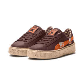 Thumbnail 2 of PUMA X TINYCOTTONS Basket Platform JR Sneakers, 01, medium