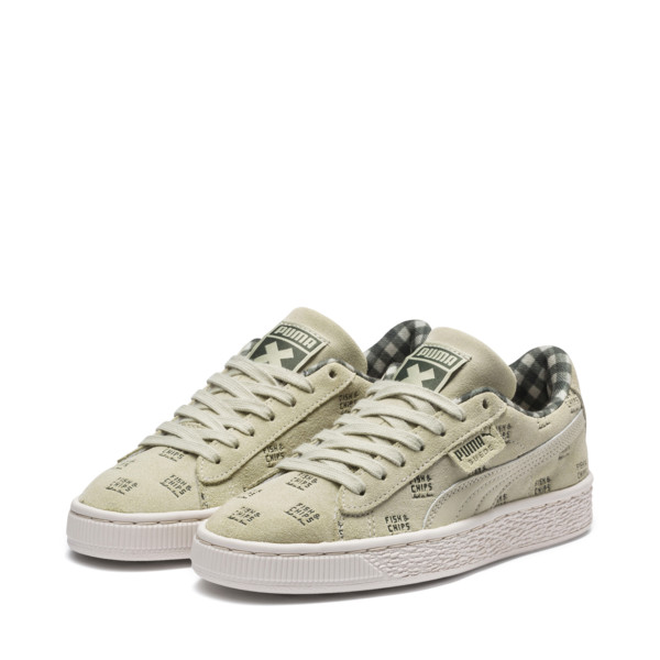 PUMA X TINYCOTTONS Suede JR, Alfalfa-Thyme-Birch, large
