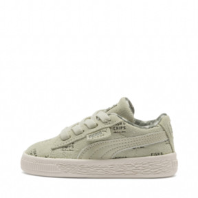 Thumbnail 1 of PUMA X TINYCOTTONS Suede PS, Alfalfa-Thyme-Birch, medium