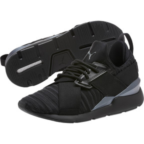 Thumbnail 2 of Muse Knit Women's Sneakers, Iron Gate-Puma Black, medium