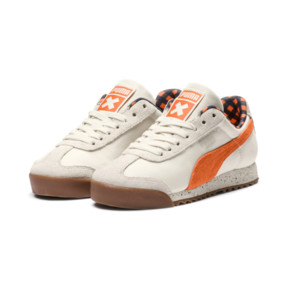 Thumbnail 2 of PUMA X TINYCOTTONS Roma JR Sneakers, White Asparagus-Orange-Blue, medium
