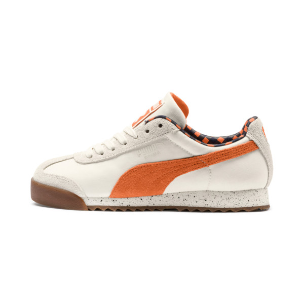 PUMA X TINYCOTTONS Roma JR Sneakers, White Asparagus-Orange-Blue, large