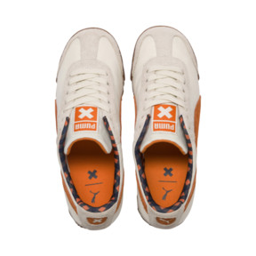 Thumbnail 6 of PUMA X TINYCOTTONS Roma JR Sneakers, White Asparagus-Orange-Blue, medium