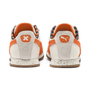 Thumbnail 4 of PUMA X TINYCOTTONS Roma Preschool Sneakers, White Asparagus-Orange-Blue, medium